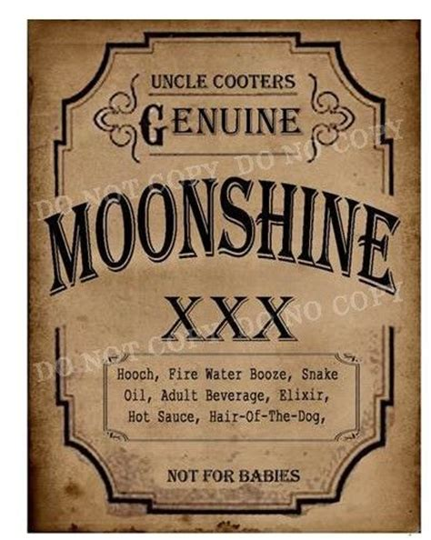 printable moonshine label vintage moonshine label www imgkid com the image kid