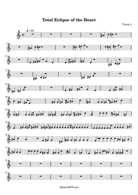 tutorial piano total eclipse of the heart total eclipse of the heart sheet music total eclipse of