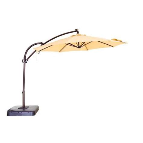 hton bay 11 ft solar powered patio umbrella in