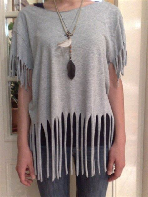 how to make fringe shirts with t shirt recon fringes 183 how to make a fringed top 183 how