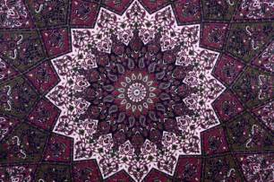 Bohemian Duvet Cover Maroon Star Tapestry Wall Hanging Hippie Tapestries Wall