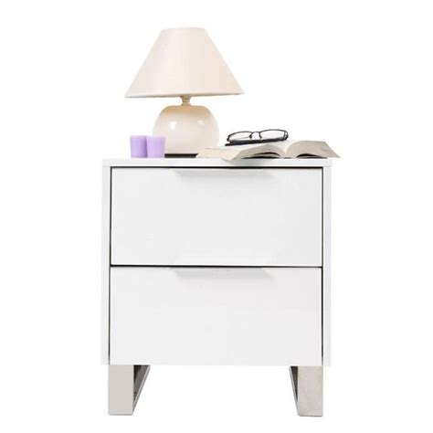 Table De Nuit Blanche by Table De Nuit Design Laqu 233 E Blanche Halifax Achat