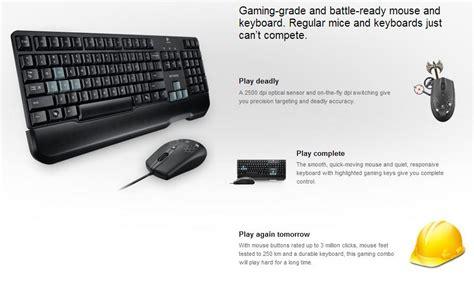 Keyboard Mouse Logitech G100 logitech g100 gaming keyboard and mouse combo g100