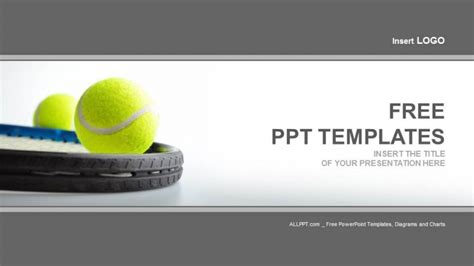 Two Tennis Balls Sports Powerpoint Templates Tennis Powerpoint Template