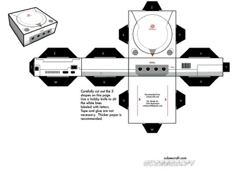 Playstation Papercraft - dreamcast nes ported to papercraft kotaku australia
