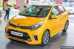 new kia picanto on display in malaysia 2018 launch