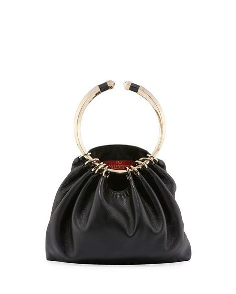 Bag Ring valentino bebop ring loop handle clutch bag in lyst