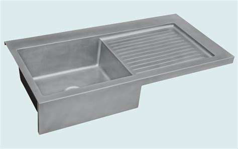 apron sink with drainboard made zinc sink with apron ribbed drainboard by