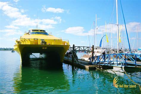benoa port boat docking bounty cruise bali star island