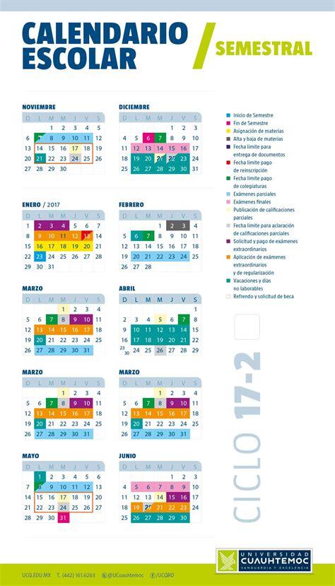 Calendã Escolar Uc Forma Parte De La Universidad Cuauht 233 Moc