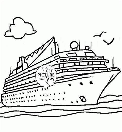 boat pictures to print and color real cruise ship coloring page for kids transportation