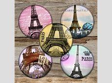 Paris Circle Images Digital Collage Sheet   Bottlecap4u Free Vintage Clip Art Images