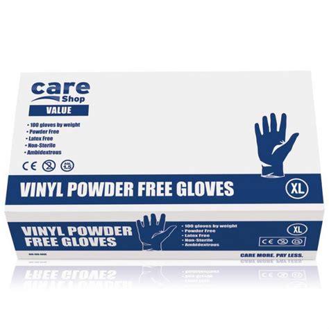 Essential Vinyl Gloves - care essentials vinyl powder free gloves large 10 pack