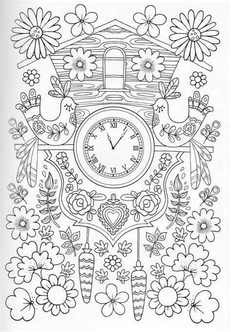 floral inspirations a detailed floral coloring book books メルヘンチック 鳥 時計 お花 お洒落な大人の塗り絵 ぬりえ テンプレート 画像集 naver まとめ