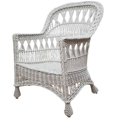 Antique Wicker Chairs by Antique Wicker Cross Bar Harbor Chair At 1stdibs