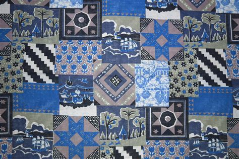 Blue Patchwork Quilt - blue patchwork quilt fabric texture picture free