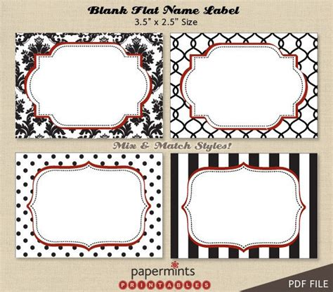 printable labels uk printable blank name labels for dessert table holiday tag