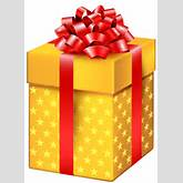 Yellow Gift Box with Stars PNG Clipart - Best WEB Clipart