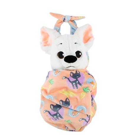 disney plush baby bolt   blanket pouch