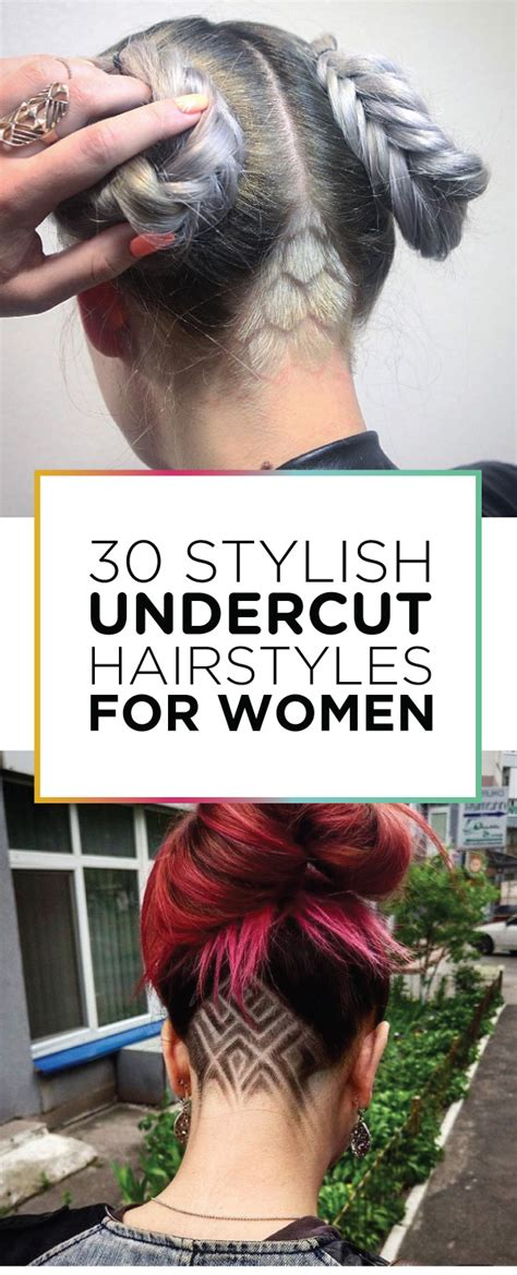 what hair types suit womens undercuts 30 stylish undercut hairstyles for women style skinner
