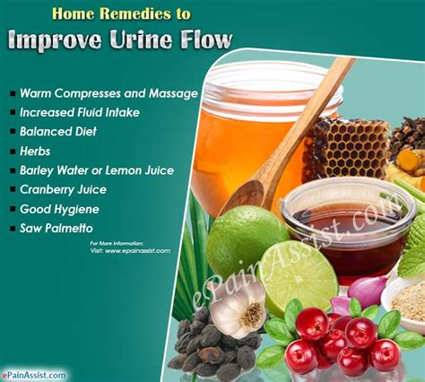 what can cause reduced urine flow home remedies improve it