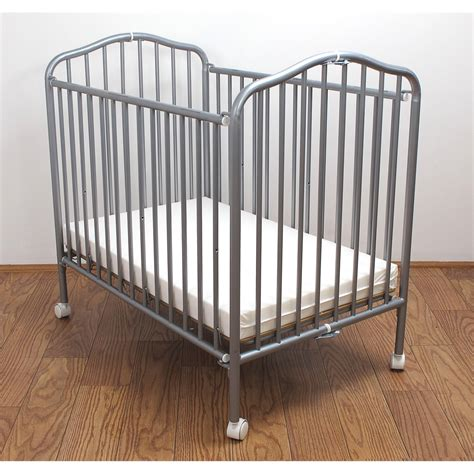 mini portable cribs la baby mini portable compact crib pewter ebay