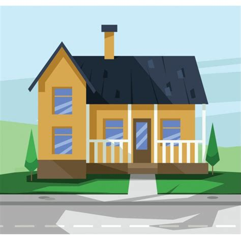 house flat design flat house design vector free download