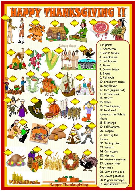 Happy Thanksgiving Worksheets