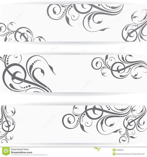 website header or banner set with beautiful floral royalty