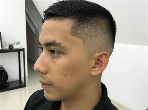 potongan rambut  cocok  jidat jenong pria model