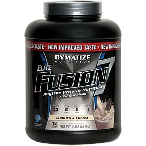 Elite Fusion 7 4lbs elite fusion 7 cookie and 4 lbs 0 00ea from dymatize