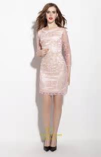 light pink sheath dress light pink embellished 3 4 length sleeve sheath dress