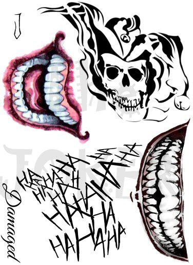 joker mouth tattoo joker tattoos suicide squad tattoos cosplay tattoos