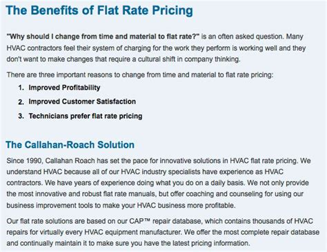 Flat Rate Plumbing Pricing by Plumbing Flat Rate Pricing Hvac Contractors