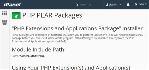 tutorial php pear how to install pear php packages via cpanel account