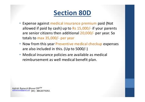 section 80d preventive health checkup tax planning 2014 for salaried
