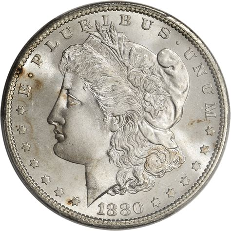 1880 silver dollar value 1880 s us silver dollar 1 pcgs ms67