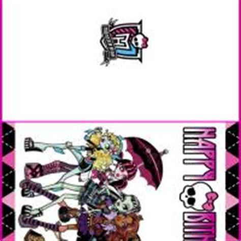 printable birthday cards monster high pin invitation template wi 1031 circle customise printable