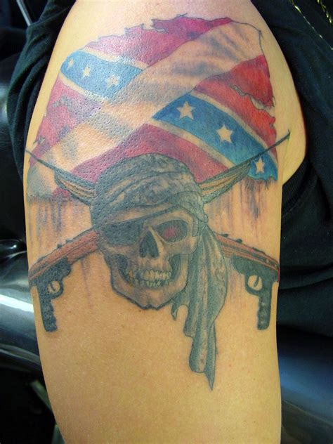 rebel tattoo rebel flag skull tattoos cool tattoos bonbaden