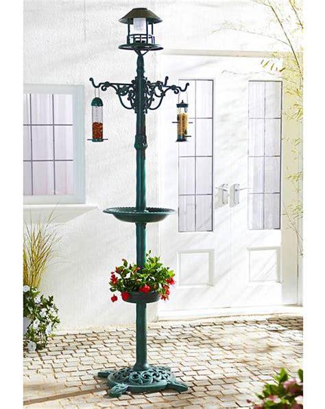bird bath feeder with solar light and planter solar light bird bath feeder planter fashion