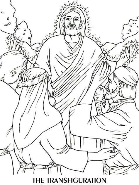 the transfiguration coloring page spanish