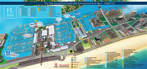 fort lauderdale boat show on the water overview maps at fort lauderdale international boat show 2016