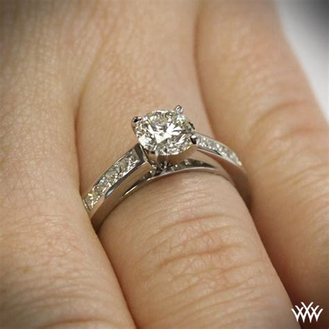 Set Cenel channel set engagement ring 1083