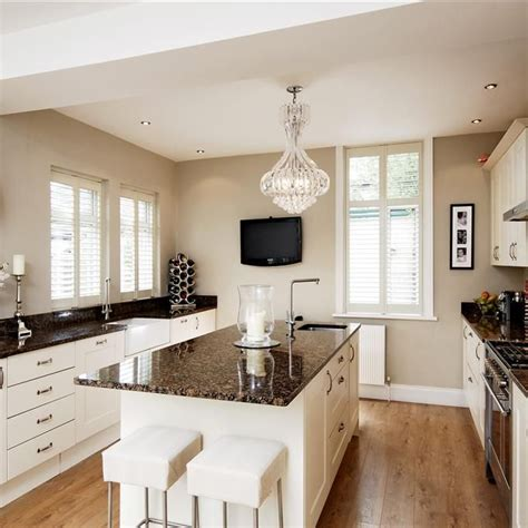 timeless kitchen with white farrow and on the walls paint colours