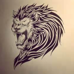 Tribal lion tattoo designs images deviantart more like lion tribal