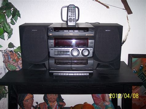 stereo cassette player sony stereo 3 cd cassette player with speakers and