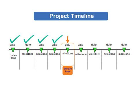 project timeline template 14 free download for word