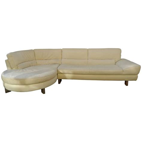 Italsofa Leather Sofa Large Midcentury Leather Italsofa By Natuzzi For Sale At 1stdibs
