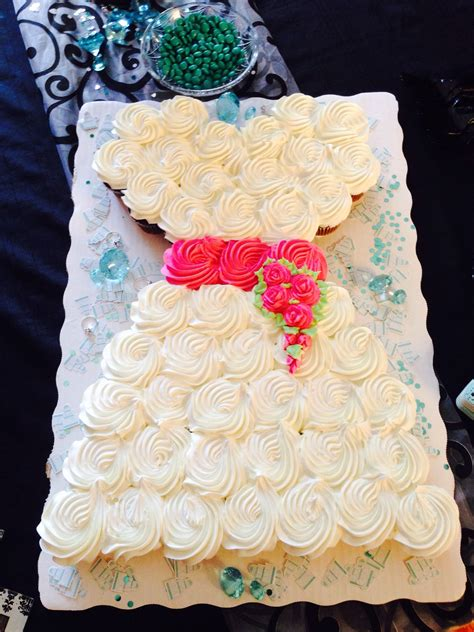 wedding dress cupcakes for bridal shower party time