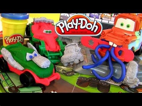 Play Doh Cars 2 Mold N Go Speedway play doh cars 2 mold and go speedway playset disney pixar epic review mold build car toys play